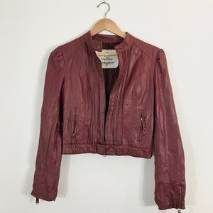 Heart Soul Red Leather Jacket